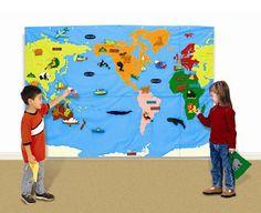 .. .. ... ... ... Ensinando Missões para Crianças ... ... ... .. ..: Painel missionário