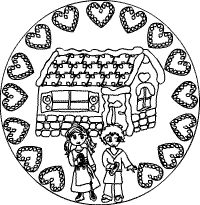 Hänsel und Gretel-Mandala