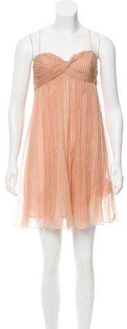 Karen Walker Silk Polka Dot Mini dress