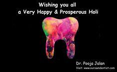 Pooja Jalan-Best Dentist in Indirapuram -Dental Clinic-Indirapuram Dental Surgeon, Dental Implants, Best Dentist, Happy Holi, Clinic, Health, Happy Holidays, Salud, Health Care