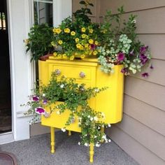 s 9 whimsical planters you didn t know you needed, container gardening, gardening, A Jewel Toned Dresser