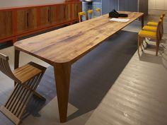 Reclaimed wood table TERRA - ESTEL