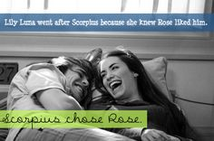 Lily Luna went after Scorpius because she knew Rose liked him. Scorpius chose Rose. Submitted by: anon
