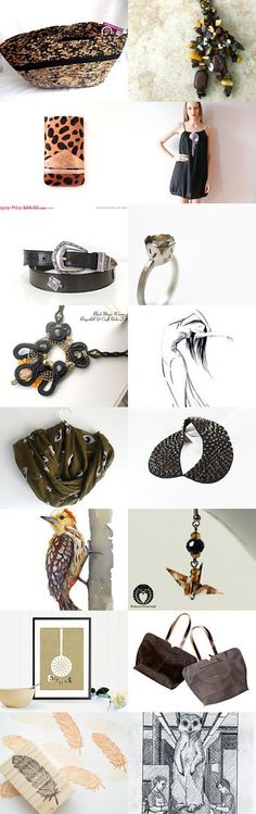 #Black Meets #Brown by Julia on Etsy-- #etsy #treasury #basket Pinned with TreasuryPin.com
