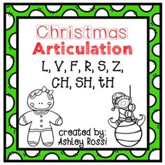 """Christmas Articulation! No Prep printables great for Christmas activities.{24 usable pages} print and go!2 sheets for each sound (one """"Roll, Play, and Say"""" game board with 12 words, one """"Color and Say"""" with 36 words):S, S blends, Z, R, R blends, TH, SH, SH, V, F, L initial/medial/final positions  all word level*please note the words are the same from my popular Halloween Articulation and Thanksgiving ArticulationAlso see:Articulation: TH Football Frenzy GameAutumn ArticulationSee what I'm…"""