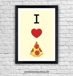 Poster I Love Pizza