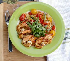 A Squared: What's For Dinner Wednesday: Spicy Roasted Tomato & Pepper Pasta with Shrimp