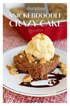 Easy Cake Recipes, Dessert Recipes, Desserts, Sweets Cake, Cupcake Cakes, Cupcakes, Dessert Bars, Dessert Table, Crazy Cakes
