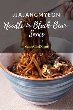 Jjajangmyeon or Korean Black Bean Noodles are an excellent dish to make. Not only are they delicious and filling, but inexpensive to make! nudeln How to Make Authentic Jjajangmyeon-Korean Black Bean Noodles Korean Black Bean Noodles, Black Noodles, Korean Noodles, Popsugar, Korean Kitchen, Korean Dishes, Asian Recipes, Ethnic Recipes, Asian Cooking