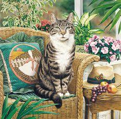 """Hemingway"" Workaday Cats / Geoffrey Tristram"