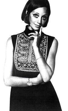 Marisa Berenson is wearing Christian Dior, 1968