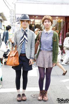 Harajuku Girls' MacPhee Jacket & Fedora vs. Pleated Skirt & Liberty Bow Tie