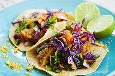 Tacos de Aguacate Empanizado Estilo Baja