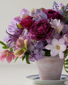 Floral Arrangement ~ purple tones