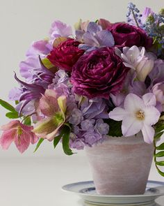 Floral Arrangement ~ purple tones