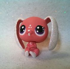 Easter Bunny Sparkle Lop Bunny * OOAK Hand Painted Custom Littlest Pet Shop So cute for Easter