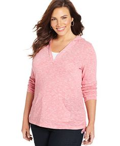 Style&co. Plus Size Hooded Layered-Look Top