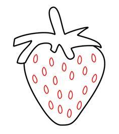 How to draw a cartoon strawberry