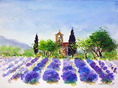 im Garten der Provence...eine Serie von 60 Aquarellen sind hier entstanden 50x60cm....- von..-Kunst-Maler..-Thomas Mühlbauer