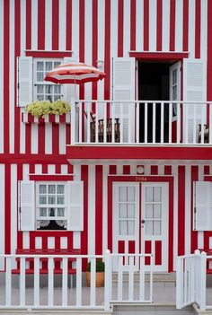 Patterns-stripes, red and white stripes, architecture, building, Portugal Costa Nova Portugal, Spain And Portugal, Portugal Travel, Architecture Unique, Jolie Photo, Windows And Doors, Lisbon, Ramen, Red And White