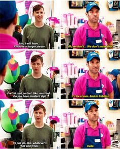At this point I was rooting for Scott to throw ice cream in his face!