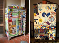 lucas rise - what great inspiration for that cabinet I need to repaint!