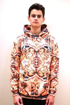So many cool trippy clothes on this site for guys (Gold Renaissance Hoodie)