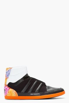 Y-3 Black and orange Honja High-top sneakers