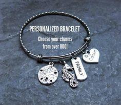 Vet Tech Charm Bracelet Personalized Expandable Bangle