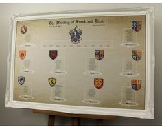 Game of Thrones / Heraldry wedding seating plan