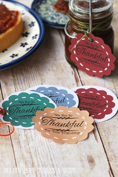 Thanksgiving gift labels