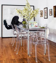 Philippe Starck Style Victoria Ghost Side Chair Clear Philippe