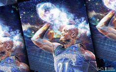 kevin garnett by dabiankwong on DeviantArt Kevin Garnett, Nba Wallpapers, Wallpaper Pc, 21st, Painting, Insight, Basketball, Painting Art, Paintings