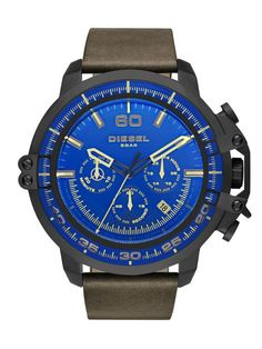 Diesel Deadeye DZ4405 Leather Chronograph Men's Watch