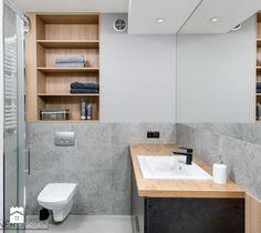 Kukuczki 7 - Mała łazienka w bloku bez okna, styl industrialny - zdjęcie od Partner Design