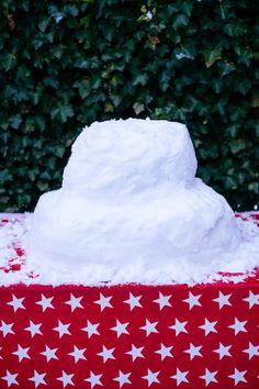 Lagen maken sneeuw taart- Voeder taart voor vogels- http://www.mylucie.com- bird- snow