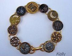 Victorian shank button bracelet