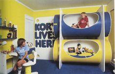 vintage kids room - 70s