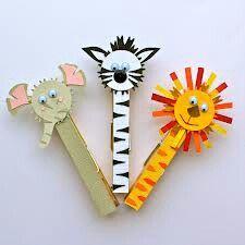 Manualidades de animales para niños con pinzas de madera: Hoy os traemos manualidades de animales para niños