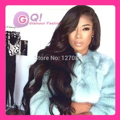 Find More Wigs Information about GQ Natural black 100% brazilian virgin hair glueless full lace human hair wig or lace front wigs for black women Brazilian wigs,High Quality Wigs from Glamour Fashion Hair CO.,LTD on Aliexpress.com