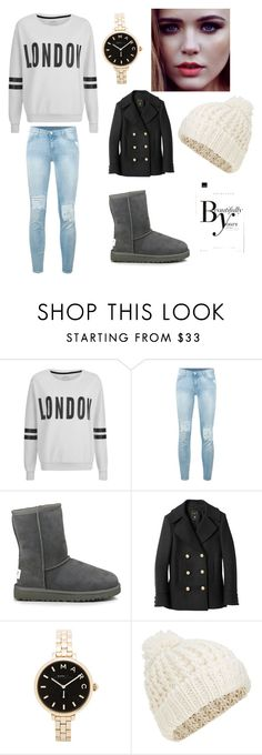 """Untitled #24"" by glittergirl155 on Polyvore featuring ONLY, 7 For All Mankind, UGG Australia, Balmain, Marc by Marc Jacobs, Accessorize and Sonam Life"
