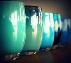 Glassy Baby- best hand blown glass votives! They put out amazing light. Love my two (would love many more). Go to a great cause too.