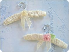 Paper Couture XI: Vintage Padded Clothes Hangers Shabby Chic Style