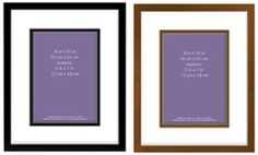 MCS Linear Wood Picture Frame Matted For 5x7