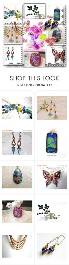 """""""Colorful Etsian World"""" by sabine-promote ❤ liked on Polyvore featuring vintage"""