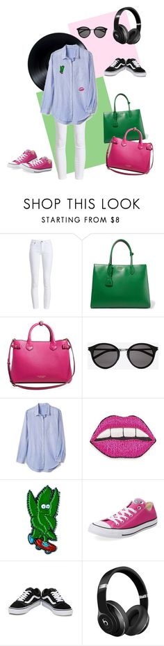 """""""Turn up the music 🎧"""" by monikakei ❤ liked on Polyvore featuring Barbour, Prada, Burberry, Yves Saint Laurent, Gap, Happy Embellishments, RIPNDIP, Converse, Vans and Beats by Dr. Dre"""