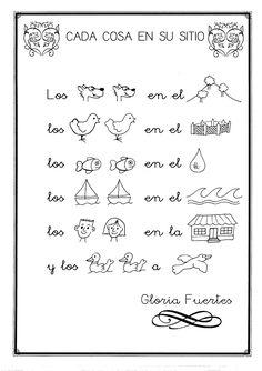 CUENTOS/POEMAS APOYADOS EN PICTOGRAMAS Spanish 101, Spanish Songs, Spanish Vocabulary, Teaching Spanish, Bilingual Education, Spanish Classroom, Word Study, Spanish Language, Literacy