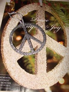 DIY peace sign ornaments