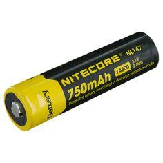 Nitecore Batteria ricaricabile Li-Ion 14500 3.7V 750mAh - Polo positivo piatto