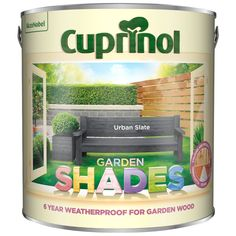 Shop for Cuprinol Garden Shades Pebble Trail Exterior Paint at wilko - where we offer a range of home and leisure goods at great prices. Painted Garden Sheds, Painted Shed, Cuprinol Urban Slate, Cuprinol Garden Shades, Slate Garden, Stationery Craft, Garden Makeover
